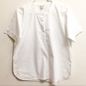 J. Crew Box-style crew neck buttons down top (L)